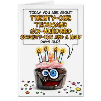 Happy Birthday Cupcake - 59 years old Card