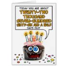 Happy Birthday Cupcake - 62 years old Card
