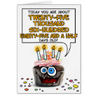 Happy Birthday Cupcake - 70 years old Card