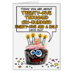 Happy Birthday Cupcake - 70 years old Greeting Card