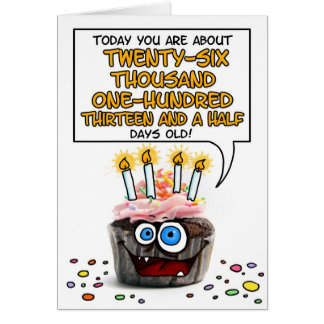 Happy Birthday Cupcake - 71 years old Card