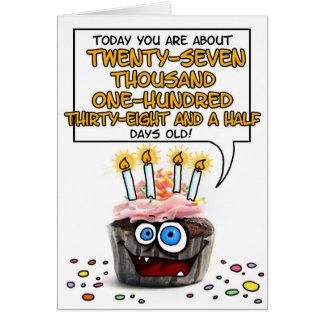 Happy Birthday Cupcake - 74 years old Card