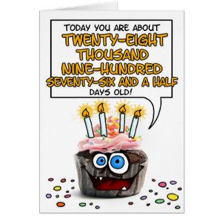 Happy Birthday Cupcake - 79 years old Card