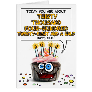Happy Birthday Cupcake - 83 years old Card