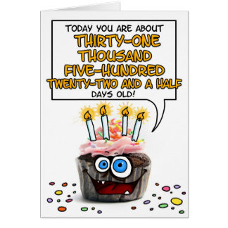 Happy Birthday Cupcake - 86 years old Greeting Cards