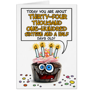Happy Birthday Cupcake - 93 years old Card
