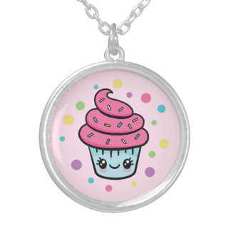 Happy Birthday Cupcake necklace