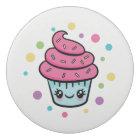Happy Birthday Cupcake round eraser
