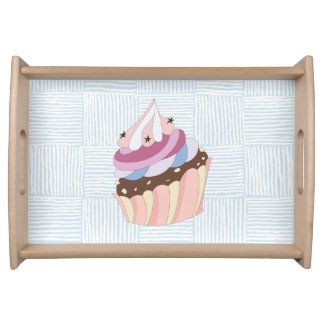 Happy Birthday Cupcake Serving Tray