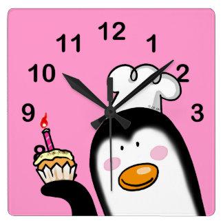 Happy birthday cupcake wall clock