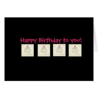 Happy Birthday - cupcakes Card