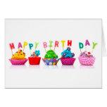 Happy Birthday Cupcakes Greeting Card