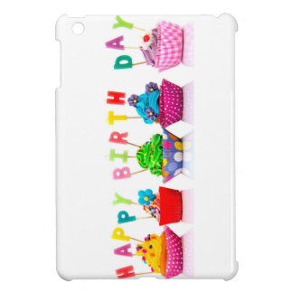 Happy Birthday Cupcakes iPad Mini Covers