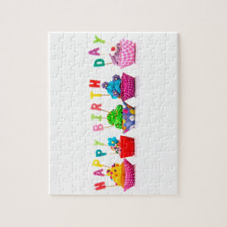 Happy Birthday Cupcakes Jigsaw Puzzle