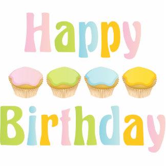Happy Birthday Cupcakes Photo Sculptures