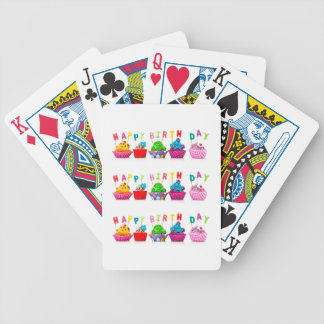 Happy Birthday Cupcakes - Playing Cards