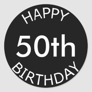 Happy Birthday Custom Age Classic Round Sticker