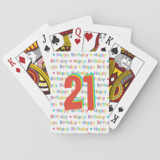 Happy Birthday Custom Age Number Playing Cards