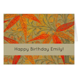 Happy Birthday Custom Template Bamboo Art