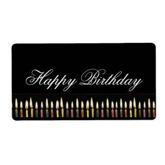 Happy Birthday Customizable Label Shipping Label