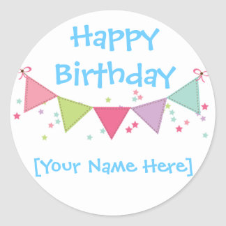 Happy Birthday Customizable Sticker Sheet