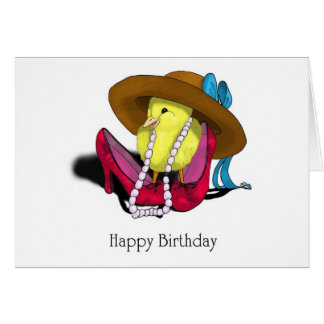 Happy Birthday Cute Chick by April Robbins Card