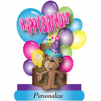 Happy Birthday Cute Monkey Cutout Standing Photo Sculpture