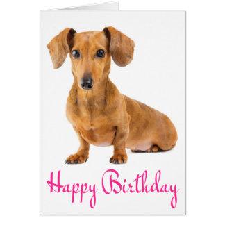 Happy Birthday Dachshund Puppy Dog Card
