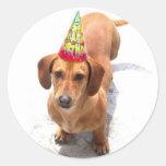 Happy Birthday Dachshund stickers
