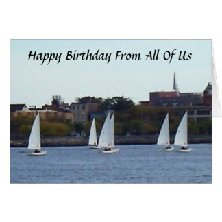 """HAPPY BIRTHDAY DAD FROM """"ALL OF US"""" CARD"""