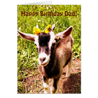 Happy Birthday Dad from Kid Card (with Goat)