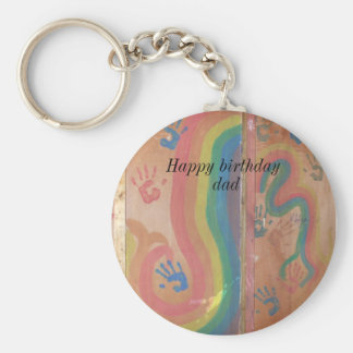 Happy Birthday Dad-graphics Keychain