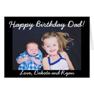 Happy Birthday Dad Personalized Photo Card