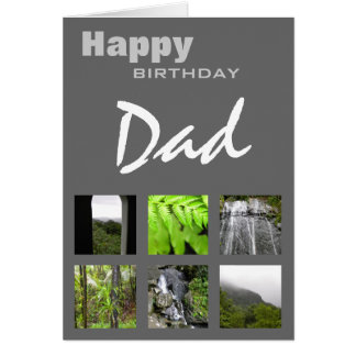 Happy Birthday Dad Photo Template Card