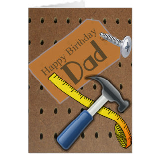 Happy Birthday Dad Tool Card