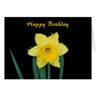 Happy Birthday Daffodil in Oils Card