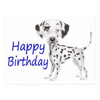 Happy Birthday Dalmatian Puppy Dog Postcard