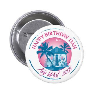 Happy Birthday Dan 2 Inch Round Button