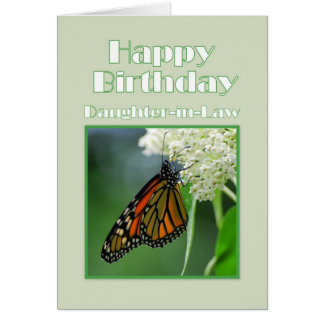 Happy Birthday Daughter-in-Law Monarch Butterfly Card