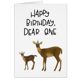 Happy Birthday, Dear One card