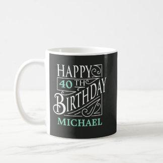 Happy Birthday design, decorative vintage style. Coffee Mug