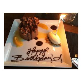 Happy Birthday Dessert Postcard