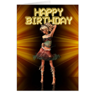 Happy Birthday Deva female birthday on the stage Card