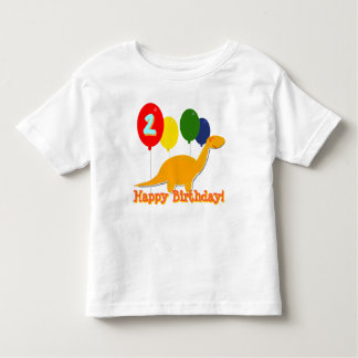 Happy Birthday Dinosaur 2 Years Balloons T-Shirt