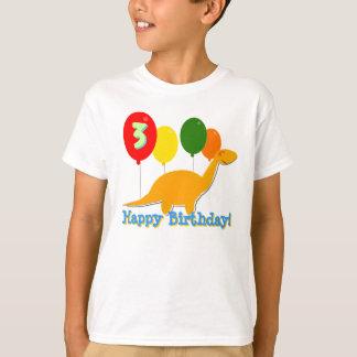 Happy Birthday Dinosaur 3 Years Balloons T-Shirt