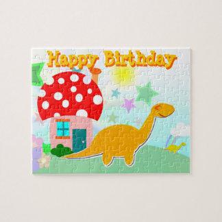 Happy Birthday Dinosaur Puzzle