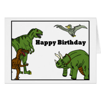 Happy Birthday Dinosaurs Greeting Card