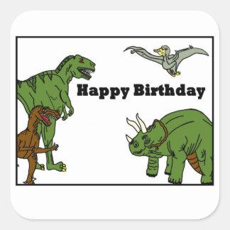 Happy Birthday Dinosaurs Sticker