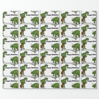 Happy Birthday Dinosaurs Wrapping Paper