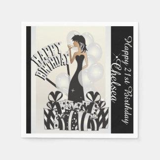 Happy Birthday Diva Girl | DIY Name | White Disposable Napkin